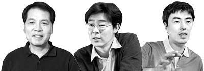 왼쪽부터 석상일, 배준범, 김건호.