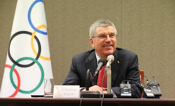 토마스 바흐(Tomas Bach), IOC위원장 기자회견.