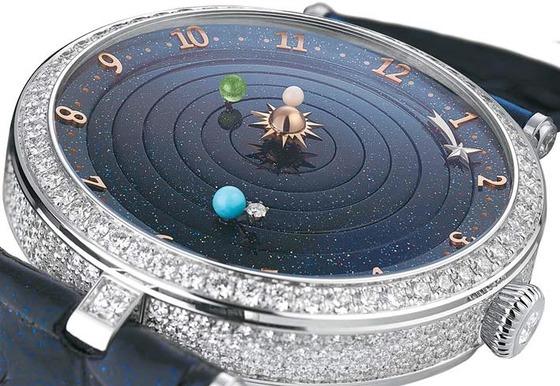 천체의 움직임을 표현한 반클리프 아펠의 레이디 아펠 플라네타리움 포에틱 컴플리케이션 워치. [사진 반클리프 아펠]