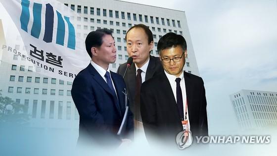 '문고리 3인방'으로 불린 안봉근·이재만·정호성 전 청와대 비서관, [연합뉴스]