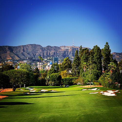 할리우드가 보이는 윌셔 골프장. [LPGA]