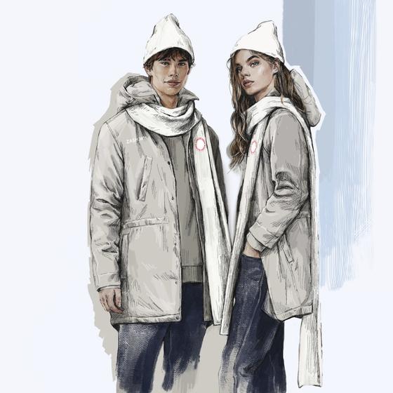 평창 겨울 올림픽에 개인자격으로 출전하는 러시아 선수들이 입을 유니폼 디자인이 공개됐다. 러시아 국기가 빠져있으며, 유니폼 색도 러시아 국기가 연상되지 않는 회색톤이다. [AP=연합뉴스]