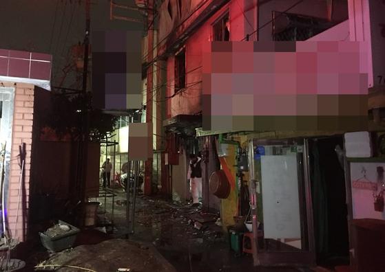 화재가 발생한 서울 종로5가 여관 모습 [연합뉴스]