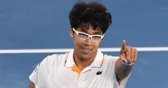 한국 최초로 테니스 메이저대회 8강에 진출한 정현. [AP=연합뉴스]