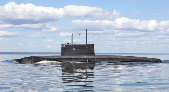 러시아의 킬로급 잠수함.