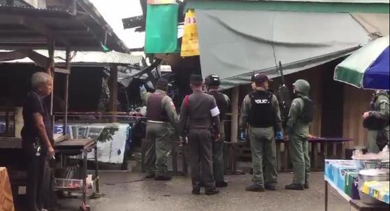 태국 남부 폭발 현장[사진 더 네이션 홈페이지=연합뉴스]