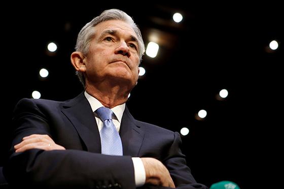인준 청문회에 참석한 제롬 파월 미국 Fed 차기 의장 . 미 상원은 23일 압도적 찬성으로 인준안을 통과시켰다. [로이터=연합뉴스]