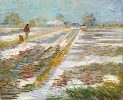 반고흐의 1888년작 '눈내린 풍경(Landscape With Snow)'