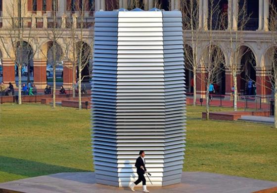 중국 베이징과 톈진에 들어선 것과 같은 형태의 공기정화탑. [사진=Roosegaarde]