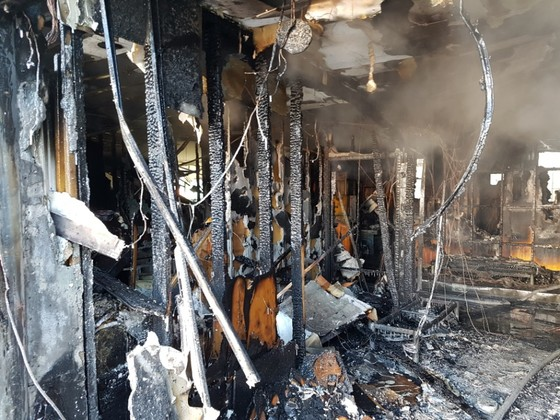 화재가 발생한 뒤 세종병원 1층. 형체를 알아보기 어려울 정도로 내부가 불탔다. 송봉근 기자