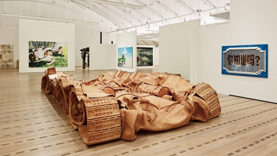 He Xiangyu , the tank project / Installation view of Exhibition Chinese Whispers in Bern, 2016. Copyright the artist, ⓒ Rolf Siegenthaler, courtesy Sigg Collection