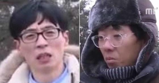 27일 오후 방송된 MBC무한도전에 출연한 유재석(좌)과 촬영 스태프(우) [MBC 화면 캡처]