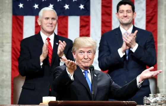 지난 30일 취임 후 국정 연설을 한 도널드 트럼프 대통령.