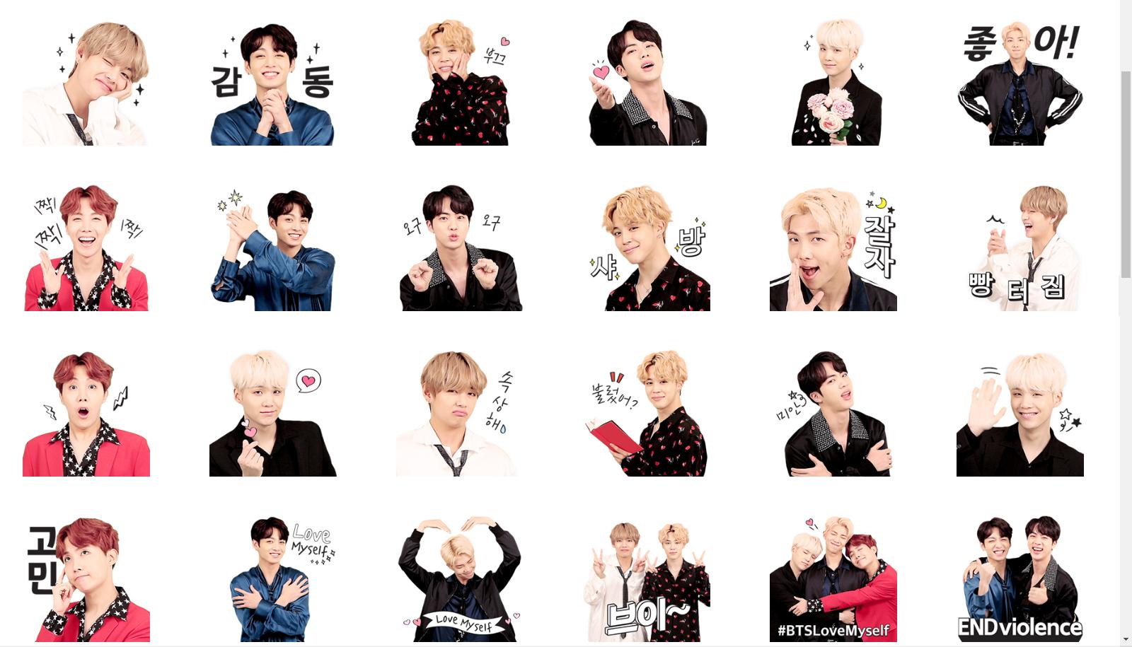 Kakao's BTS emoticon. Photo from Kakao