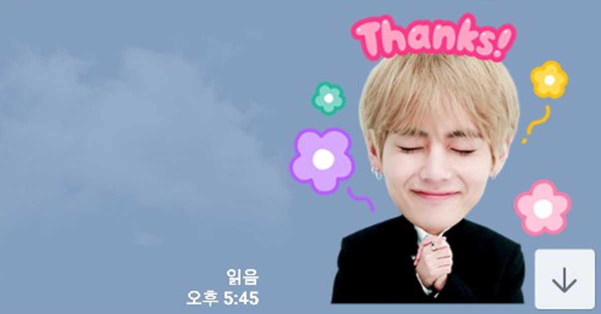 BTS emoticons. Photo from LINE app.