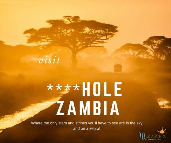 트럼프 대통령의 거지소굴(shithole) 발언을 '역발상 홍보'에 활용한 잠비아 관광청의 페이스북 페이지. [사진 페이스북]