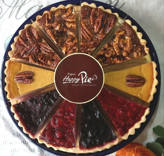 상시 판매하는 5종의 파이를 2조각씩 모아 한 판으로 만든 모둠파이.