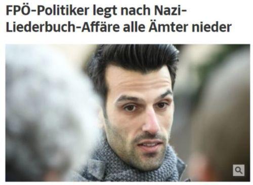 나치를 찬양하는 극우단체에 활동한 것으로 알려진 오스트리아 란트바우어. [사진 쥐트도이체(sueddeutsche) 온라인판 갈무리]