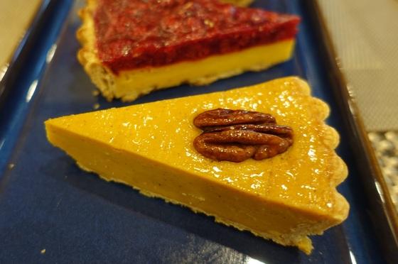 호박유자 치즈파이 단면.