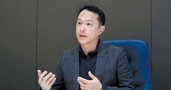 싱가포르 메디컬 그룹의 텍 리앙 벵 CEO가 경기도 판교 차바이오컴플렉스에서 차병원그룹의 글로벌 경쟁력에 대해 이야기하고 있다. 프리랜서 박정근