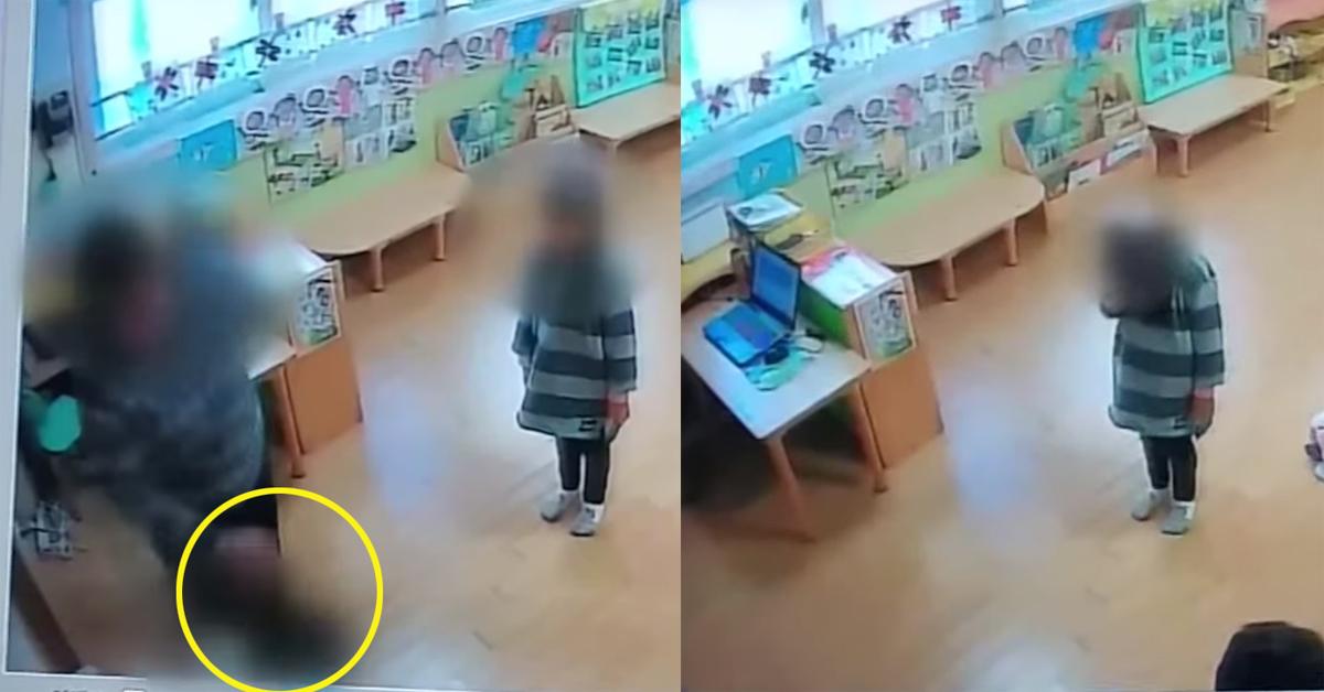 6살 아이 폭행하는 보육교사[연합뉴스]