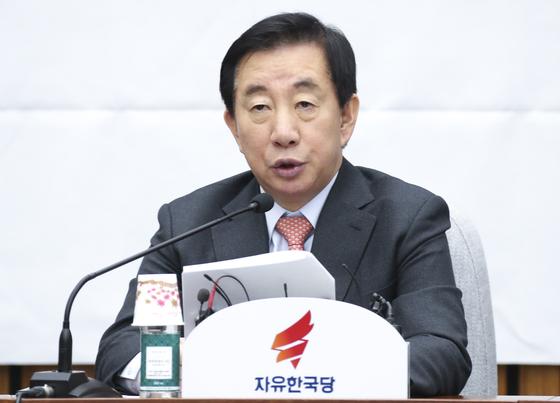 김성태 자유한국당 원내대표. [중앙포토]