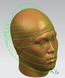 3D 스캔으로 디자인한 윤성빈의 두상을 토르소로 그래픽화한 것. [사진 홍진HJC]