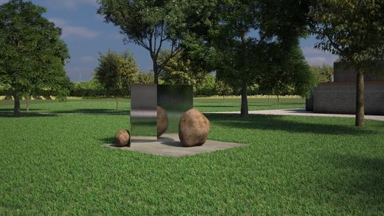 영국 런던 서펜타인 갤러리 야외 공간에 전시된 이우환의 'Relatum-Stage'. [사진 AECOM]