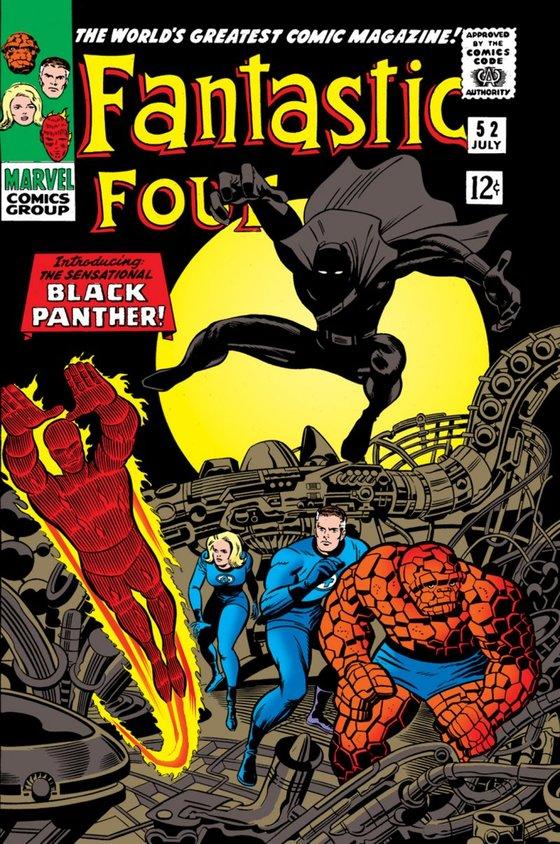 1966년 '블랙 팬서'가 첫 등장한 마블 코믹스 '판타스틱4 #52'