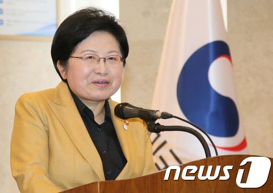 정현백 여성가족부 장관.[뉴스1]
