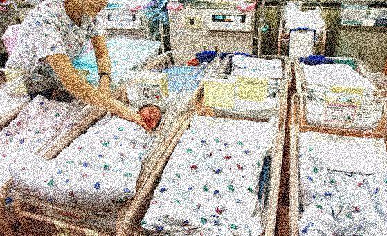 한산한 신생아실의 모습.[중앙포토]