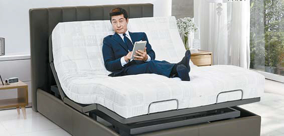 '라클라우드'는 전 공정이 이탈리아 현지에서 진행되는 100% 천연 라텍스 침대다.