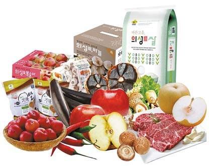 의성眞'은 지역 농산물의 경쟁력 강화를 위해 의성군이 개발한 농산물 공동브랜드다.