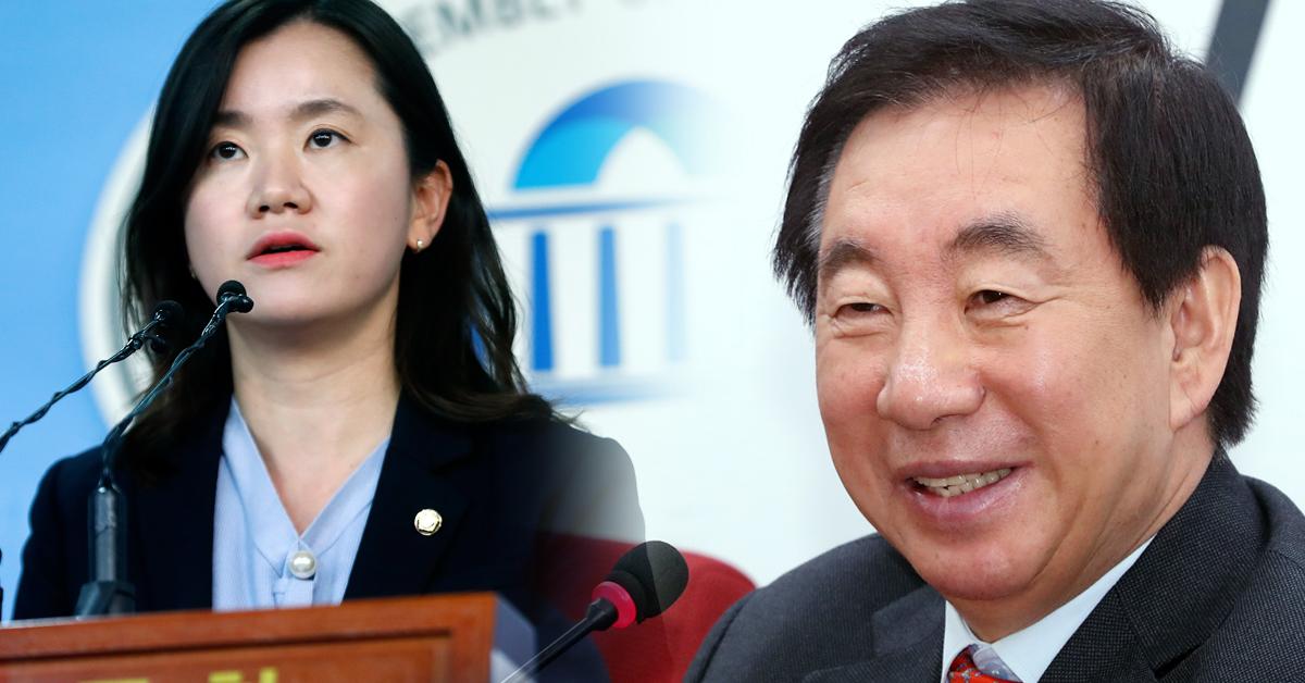 김성태 원내대표가 12일 신보라 의원의 쌍둥이 임신 소식을 발표했다. [뉴스1]