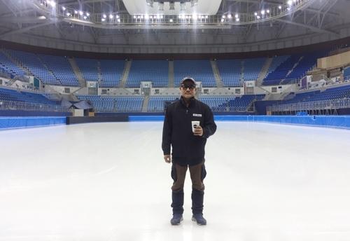 2018 평창동계올림픽 쇼트트랙·피겨스케이팅 경기장인 강릉아이스아레나의 얼음을 책임지는 배기태 아이스테크니션. [연합뉴스]