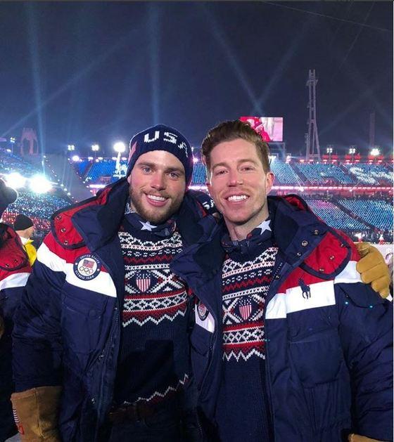 개회식에 참석해 미국대표팀 동료 거스 켄워디와 함께 사진을 찍었다. [숀 화이트 인스타그램]