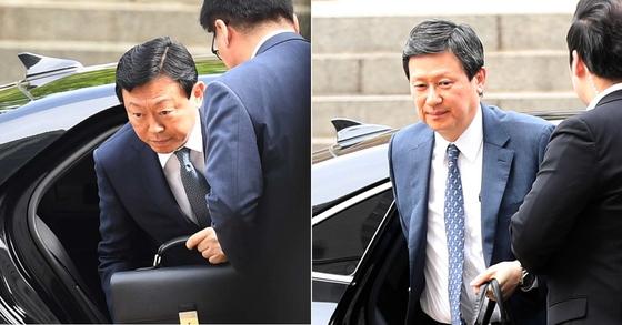 신동빈 롯데그룹 회장(왼쪽)과 신동주 전 일본롯데홀딩스 부회장. [중앙포토]