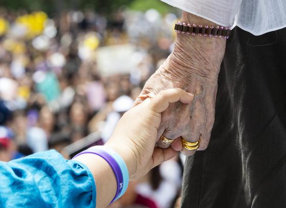 정부에 등록된 위안부 피해자 할머니 중 생존자는 30명으로 줄었다. [연합뉴스]