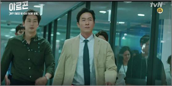 '아르곤'에서 김주혁은 냉철하면서도 가슴은 따뜻한 연기를 선보였다. [사진 tvN]