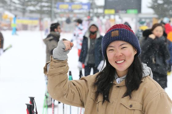 프리스타일 스키 슬로프스타일 여자 국가대표 이미현. 중앙포토