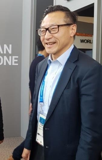 조셉 차이(joseph tsai) 알리바바 그룹 부회장이 지난 10일 강릉올림픽파크 내 알리바바 홍보관 개관식에 참석하고 있다. 박수련 기자