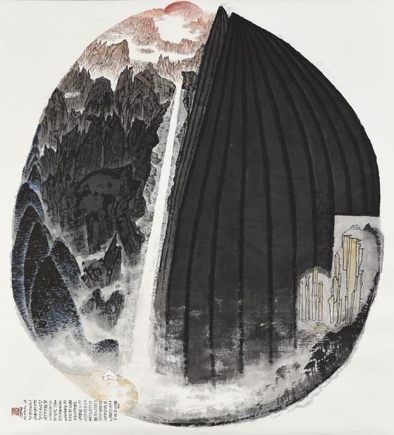 박대성 '금강화개' (197*216cm, ink on paper, 2018)                                 [사진 가나문화재단]