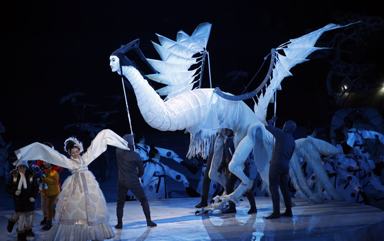 Dancers perform during the opening ceremony of the 2018 Winter Olympics in Pyeongchang, South Korea, Friday, Feb. 9, 2018. (AP Photo/Christophe Ena)
