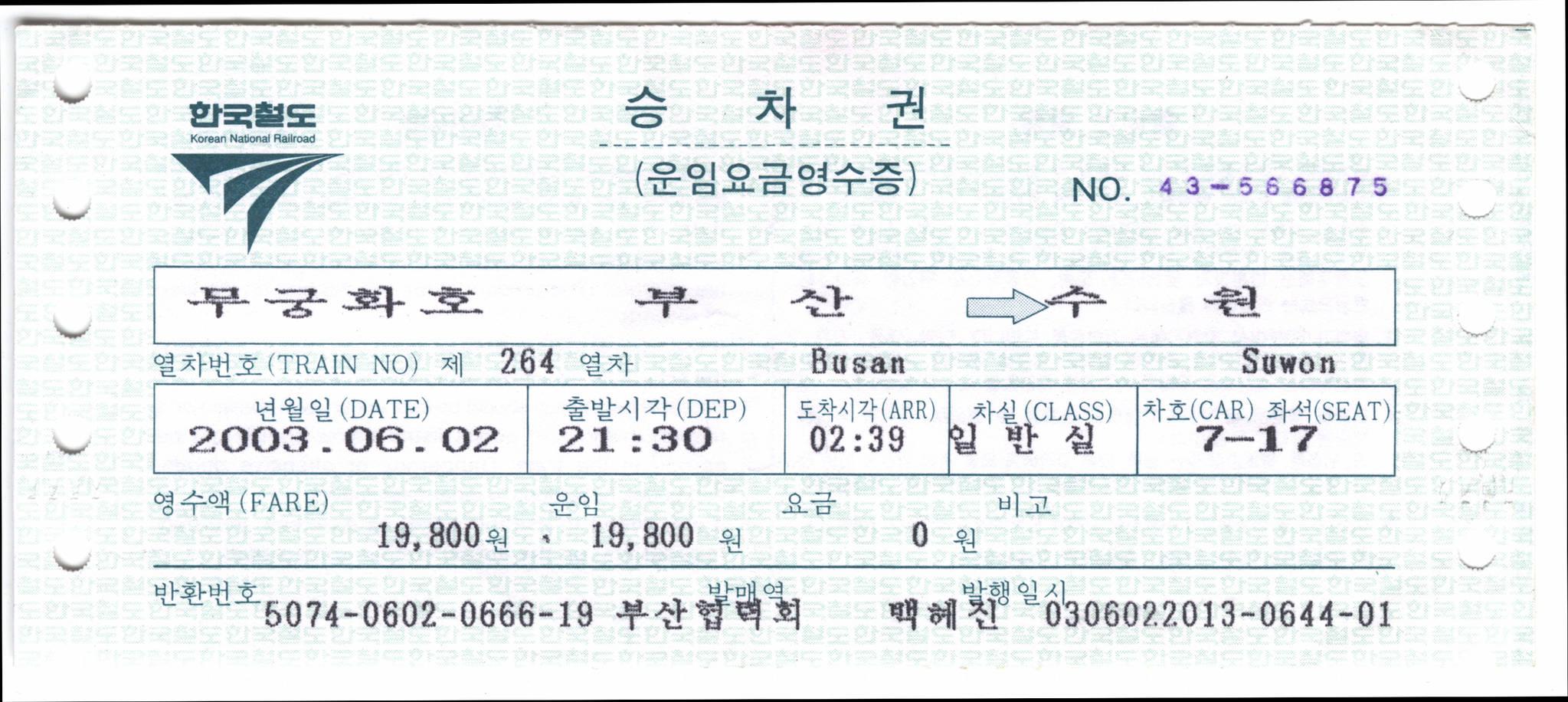 1981년 도입된 전산 승차권. 원하는 날짜와 시간을 확인해 구간을 입력하면 화면에서 바로 조회되고 발매되는 방식이다. [사진 코레일]
