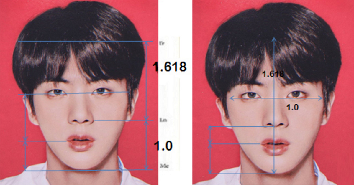 "Worldwide Handsome"" Science Says BTS JIN's Face Is Perfect"