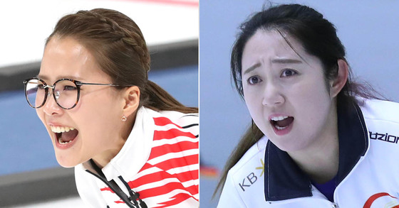 여자 컬링 대표팀 주장 김은정(왼쪽)과 리드 김영미(오른쪽) 일간스포츠, 최승식 기자