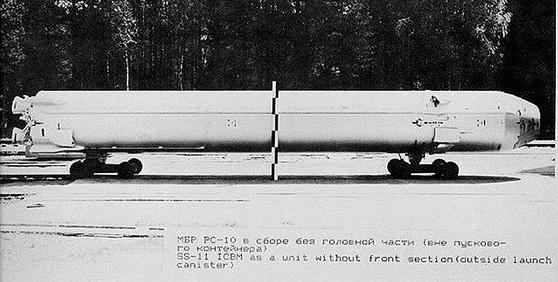 옛 소련의 ICBM인 UR-100[출처 Air Power Australia]