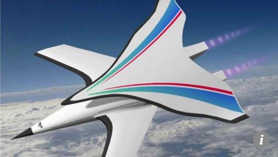 중국 연구진이 개발 중인 극초음속 비행기. [SCMP 캡처]