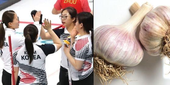 한국 여자컬링 대표팀의 선전에 마늘 맛 상품 매출도 덩달아 증가했다. [사진 중앙포토]