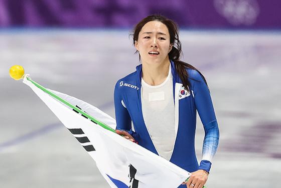 지난 18일 여자 스피드 스케이팅 500m에서 은메달을 따며 큰 감동을 안겨준 이상화 선수. [뉴스1]